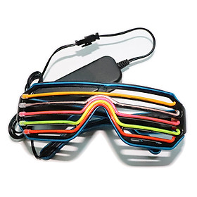 YJ010 Voice-control LED Glasses 3 Colors Optional Light Up El Wire Neon Rave Glasses Twinkle Glowing Party Club Holiday