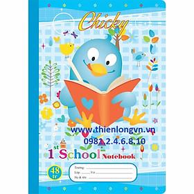 Vở 4 ô ly Chicky - 48 trang; Klong 015 bìa xanh biển