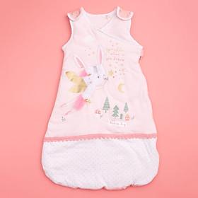 Túi ngủ 3 lỗ chất cotton lót bông ấm hình thỏ  đáng yêu cho bé
