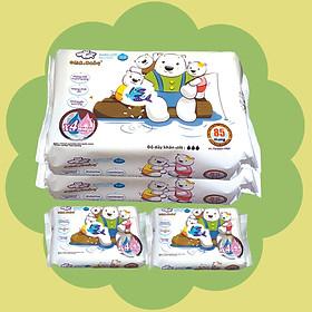 Combo ( 2+ 2) 2 gói 85 tờ + 2 gói 25Khăn ướt làm sạch tinh khiết dành cho bé Oma&Baby với công thức Chlorhexidine Digluconate kháng khuẩn an toàn, dịu nhẹ trong khăn - Combo (2+2) packages of  Oma&Baby premium baby wet wipes ( 85 sheets per package*2 + 25 sheets per package*2)