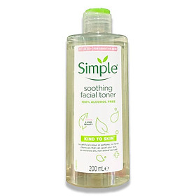 Nước hoa hồng Simple Kind To Skin Soothing Toner 200ml