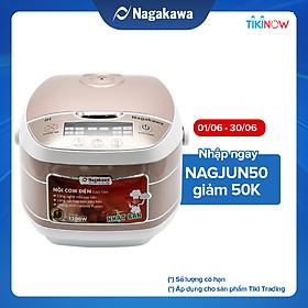 Nồi Cơm Điện Cao Tần Nagakawa NAG0102 (1.8 lít) - Gold Trắng - Hàng Chính Hãng