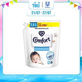 Nước Xả Vải Comfort Cho Da Nhạy Cảm Túi 3.8L - Phù Hợp Với Cả Em Bé
