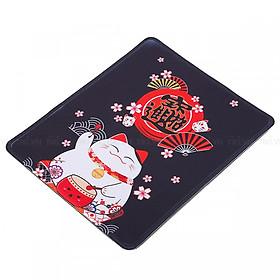 Lót Chuột Laptop Mèo Chiêu Tài (24x20 cm)