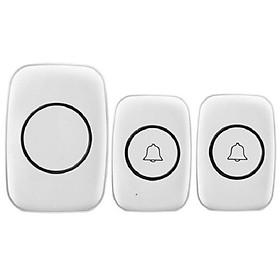 Chuông đôi không dây cao cấp báo mở cửa, có khả năng chống nước dùng trong gia đình  A10 ( Tặng nút kẹp cao su đa năng )