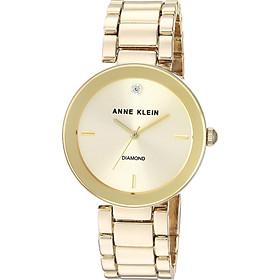 Đồng hồ nữ Anne Klein Women's Genuine Diamond Dial Bracelet Watch - Gold/Green