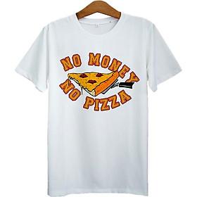 Áo Thun Nam In No Money No Pizza ASTE142 - Trắng