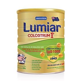 Sữa bột Lumiar Colostrum 1+ 400g – Dinh dưỡng cho đề kháng khỏe mạnh, kháng thể IgG từ sữa non & 2′-FL HMO giúp tăng cường miễn dịch.