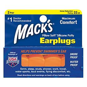 Hộp 2 Đôi Nút Bịt Tai Pillow Soft® Mack's #6