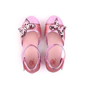 Giày búp bê bé gái Crown Space Crown UK Princess Ballerina CRUK393 - Màu hồng