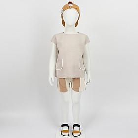 Set bộ quần áo trẻ em vải cotton mềm mịn thoát nhiệt - Nhập khẩu Hàn Quốc