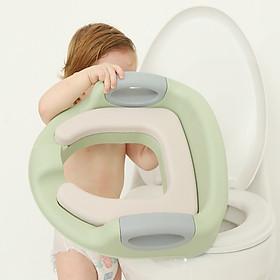 Bệ lót bồn cầu cho bé,Bệ ngồi toilet cho bé,Có tựa lưng, Tay Vịn,Chất liệu nhựa PP rất an toàn không độc hại cho da bé,Đệm cao su Chống Nước bền,êm mềm,chống trơn trượt,Khóa Chắc Chắn-BLBC-TP