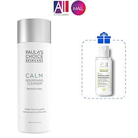Sữa rửa mặt phục hồi da Paula's Choice calm nourishing cleanser 198ml TẶNG tẩy trang SVR (Nhập khẩu)