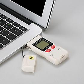 Nhiệt Kế FLUS USB Ghi Dữ Liệu Độ Ẩm Nhiệt Độ Với Màn Hình LCD