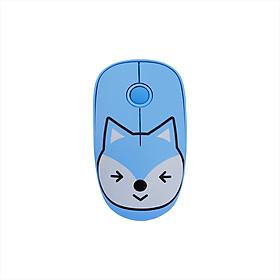 Chuột Không Dây Nhựa ABS Không Gây Tiếng Ồn Họa Tiết Hoạt Hình Kèm Tấm Lót Chuột FD E680 (2.4G)