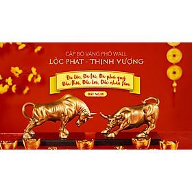 Cặp Bò Vàng Phố Wall Lộc Phát - Thịnh Vượng