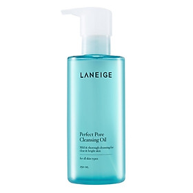 Dầu tẩy trang làm sạch lỗ chân lông Laneige Perfect Pore Cleansing Oil 250ml + Tặng 1 Innisfree Green Tea Mask Sheet