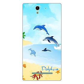 Hình đại diện sản phẩm Ốp lưng dẻo cho Sony Xperia C3 _Dolphins 01