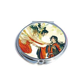 Gương Thiên quan tứ phúc anime chibi gương bỏ túi cầm tay 2 mặt dễ thương tiện lợi quà tặng độc đáo ( tròn )