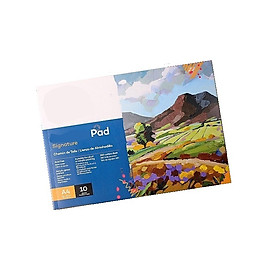 Vải toan dạng sổ 10 tờ size A4 280gsm vẽ tranh sơn dầu, acrylic, màu nước
