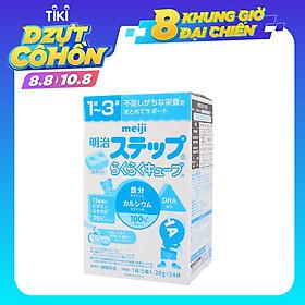 Hộp 24 thanh Sữa bột công thức Meiji Hohoemi Milk cho bé 1 đến 3 tuổi (28g/ thanh) - Nhập khẩu Nhật Bản