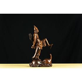 Tượng gỗ mỹ nghệ- Hoạt Phật hồ lô ký- gỗ trắc