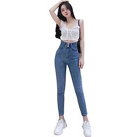 Quần jean nữ Lưng Cao Julido Store, chất jean co dãn 4 chiều ống ôm chân mẫu MH02