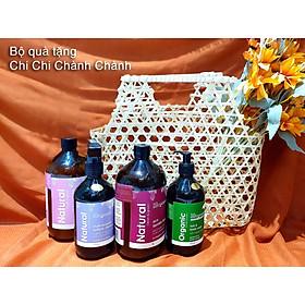 Set Quà Chi Chi Chành Chành Little Innoscents(Organic Hair Body Wash, Eco Laudry Liquid, Eco Fabric Softener, Multi-purpose Surface Cleaner)