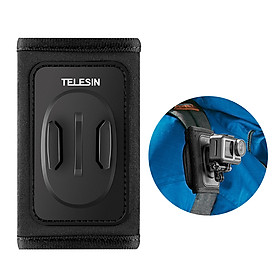 TELESIN Action Camera Backpack Strap Mount Clip Holder Compatible with DJI OSMO Pocket GoPro Hero 8/7/6/5 SJCAM Sports