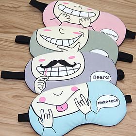 Kính Ngủ Hàn Quốc Có Túi GEL Làm Mát Mắt - Miếng Bịt Mắt Che Mắt Khi Ngủ ( phát màu ngẫu nhiên )