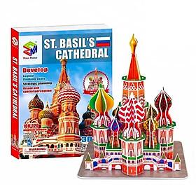 Mô Hình Giấy 3D Magic Puzzle : Đền Thánh Vasily Hiển Phúc G268-28 (46 Chi Tiết)