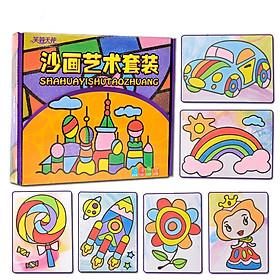 Bộ tranh cát thủ công tập tô màu cho bé