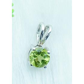 Mặt dây chuyền đá Peridot xanh lá tự nhiên 1cm