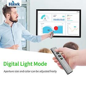 Bút trình chiếu powerpoint Hawk 2.4GHz không dây thông minh tích hợp pin sạc