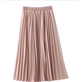 Chân váy dáng dài xếp ly thời trang VAY27 Free size