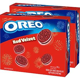 Combo 2 Hộp Bánh Oreo red velvet 342g