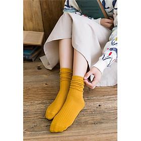 Set 5 Tất chân nữ cao cổ len gân vintage Hàn Quốc TN18 Siêu Xinh Phối Đồ Cực Đáng Yêu Mang Hơi Hướng Phong Cách Vintage Tôn Thêm Nét Nhẹ Nhàng Cho Các Bạn Nữ