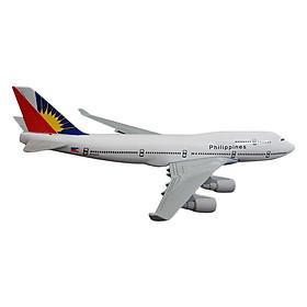 Mô Hình Máy Bay Trưng Bày Boeing 747 Philippines Everfly (Trắng)