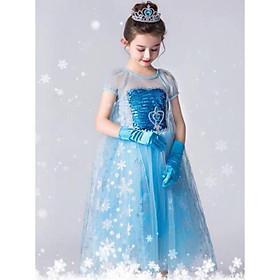 Đầm Elsa dài váy Elsa bé gái công chúa hàng xịn