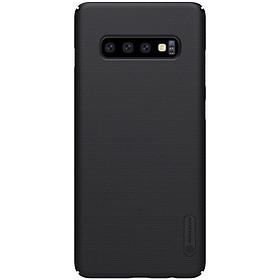 Ốp lưng sần cho Samsung Galaxy S10 hiệu Nillkin (Đính kèm miếng dán hoặc giá đỡ) - Hàng chính hãng