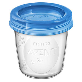 Cốc Trữ Sữa VIA Philips Avent (10Ly -180ml) - SCF618/10