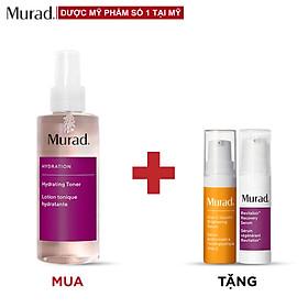 Toner cấp ẩm Murad Hydrating Toner 180ml Tặng Vita-C Glycolic Brightening Serum  5ml + Revitalixir Recovery Serum 5ml