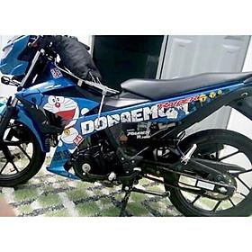 Tem rời mẫu Doraemon xanh trắng đen dành cho xe Raider- Satria Fi 150