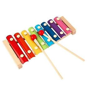 Bộ đồ chơi đàn gỗ tám thanh bằng gỗ