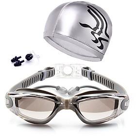 Combo kính bơi bịt tai và mũ bơi ( Màu Ngẫu Nhiên )