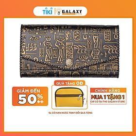 Ví Bóp Nữ Da Bò Thật Cầm Tay Clutch Handmade Cao Cấp Galaxy Store GVNUA04 - Hàng Chính Hãng (20x10 cm)