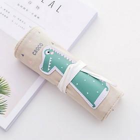 Túi hộp bút vải dạng quấn Animal