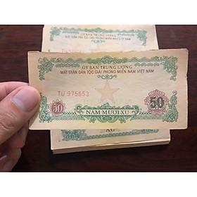 Tờ 50 xu ủy ban mặt trận giải phóng miền Nam 1963, tiền cổ sưu tầm