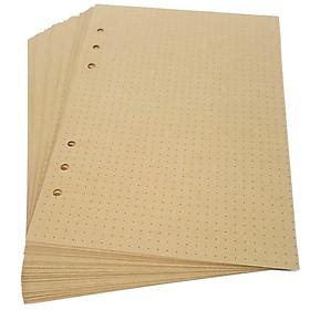 Ruột Sổ A5 Carô Có Ôly (45 Tờ/Xấp) - Mẫu 4 - Chấm Bi - Màu Vàng