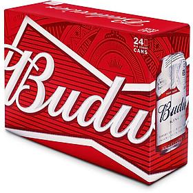 Thùng 24 Lon Bia Budweiser (330ml / Lon) - AD